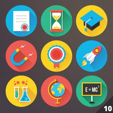 Vector Icons for Web and Mobile Applications. Set 10.