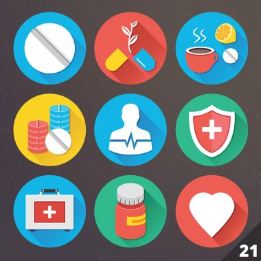 Vector Icons for Web and Mobile Applications. Set 21.