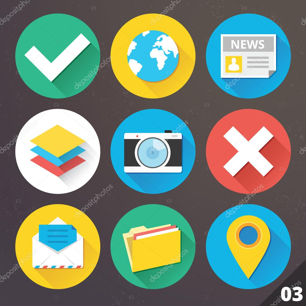 Vector Icons for Web and Mobile Applications. Set 3.