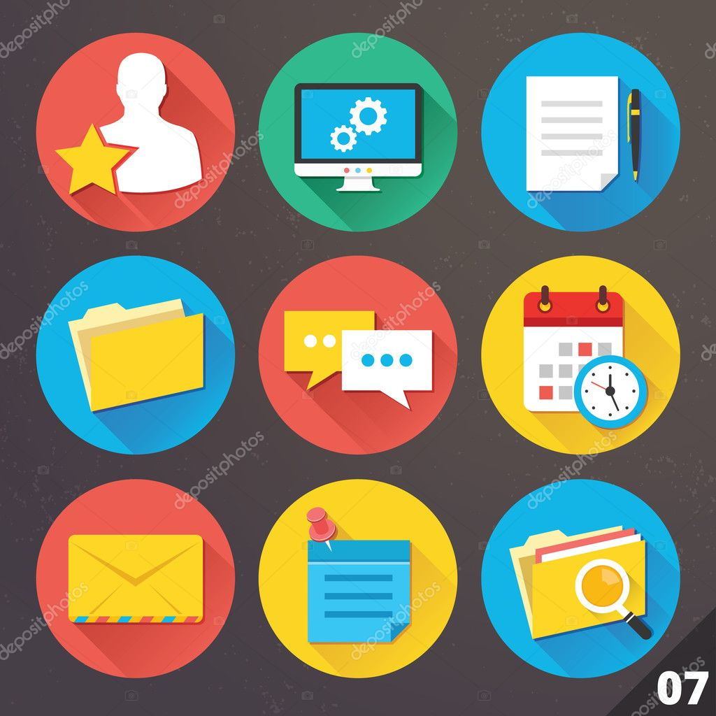 Vector Icons for Web and Mobile Applications. Set 7.