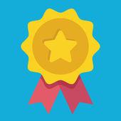 Fotografia icona di medaglia doro del vettore