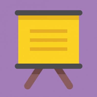Vector Presentation Board Icon