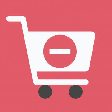 Vector Shopping Cart Remove from Cart Icon