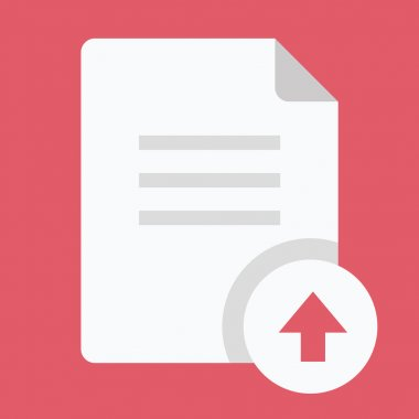 Vector Upload Document Icon