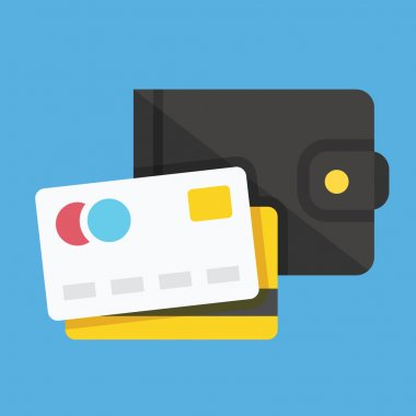 Vector Wallet and Credit Cards Icon