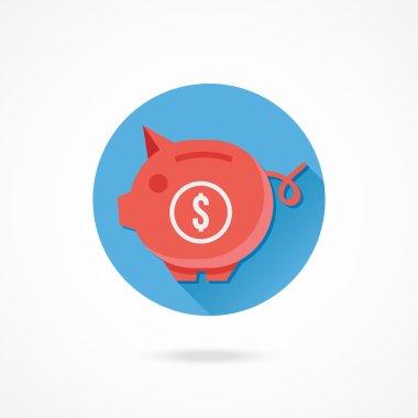 Piggy Bank and Dollar Sign