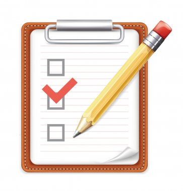 Vector Form with Pencil and Checklist Icon