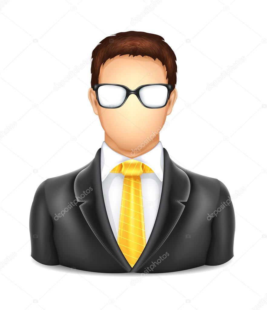 hombre de usuario con el icono de gafas — Archivo Imágenes ...