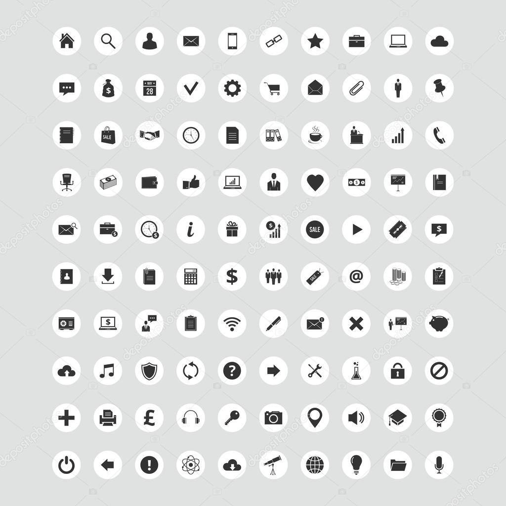 100 Universal Vector Icons for Web and Mobile
