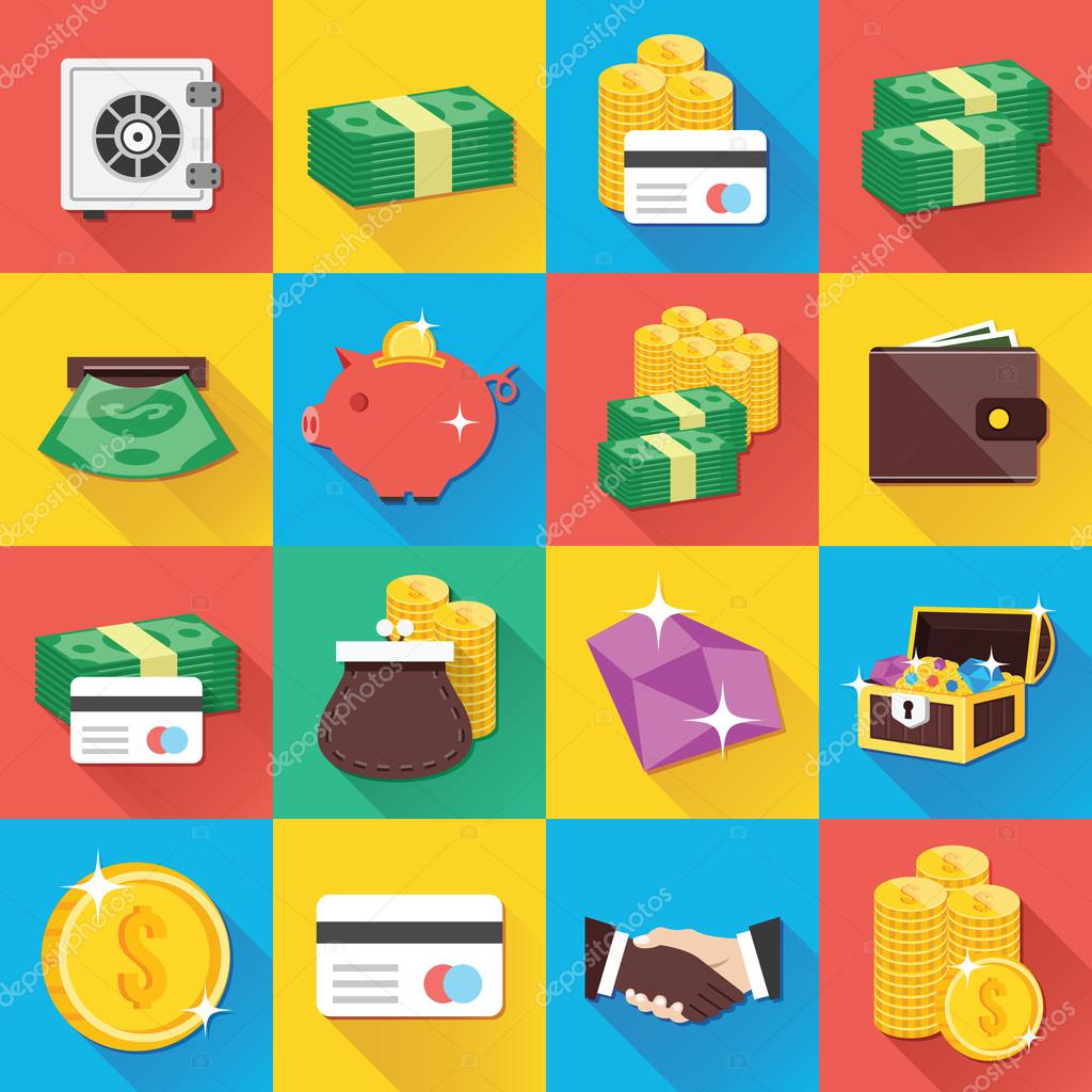 Modern Flat Icons for Web and Mobile Applications Set 9