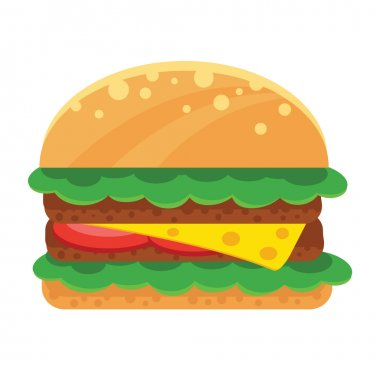 Vector Sandwich Flat Icon