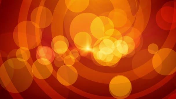 animovaný spořič oranžové barvy obrazovky s flash a zadní zaměření