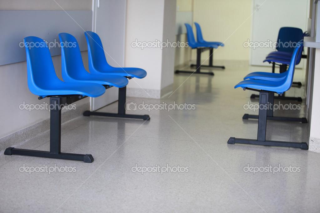 Sala dattesa porta sedie blu u2014 foto stock © voyagerix #14842429