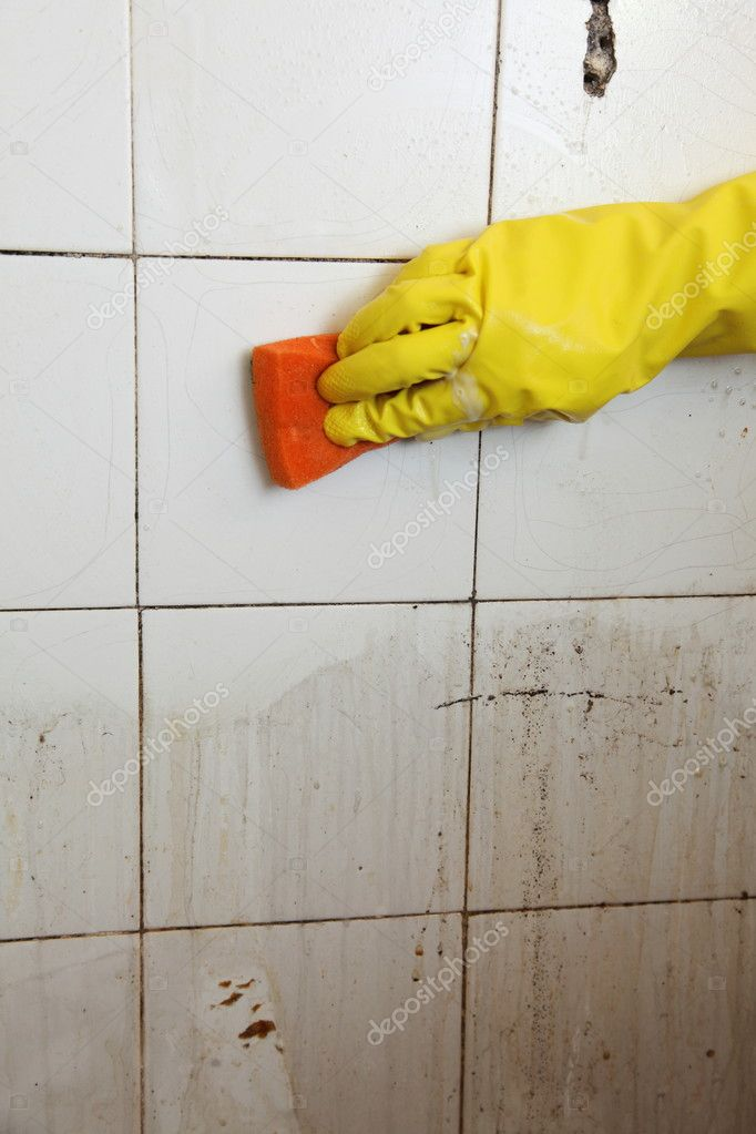 how to clean old tile bathroom floors