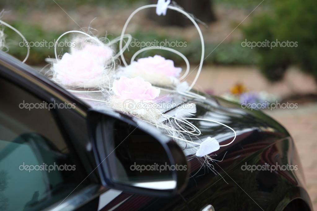 Hochzeitsband Auf Einem Auto Stockfoto Bild Von Auto Fall 62472552