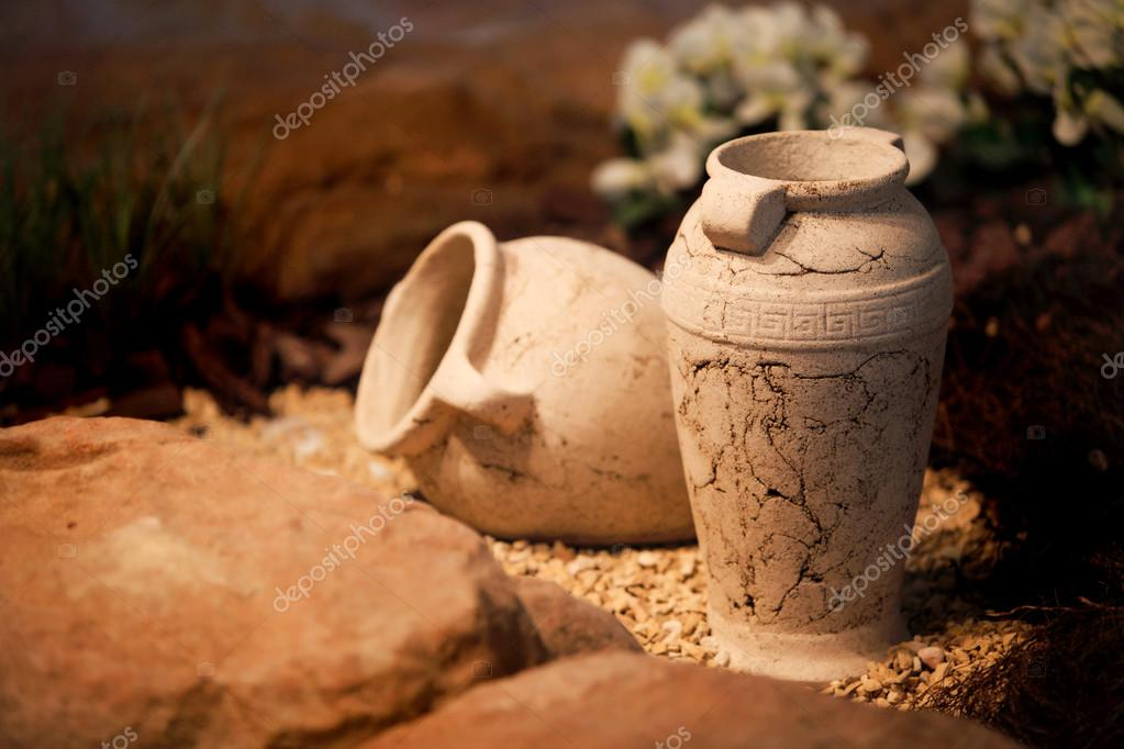 Ceramic Vases Clay Jugs Decoration And Craft Stock Photo