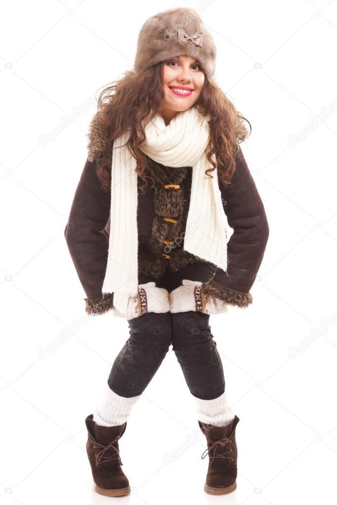 a17010d033e3 mujer de moda de invierno ropa de abrigo — Foto de stock © Voyagerix ...