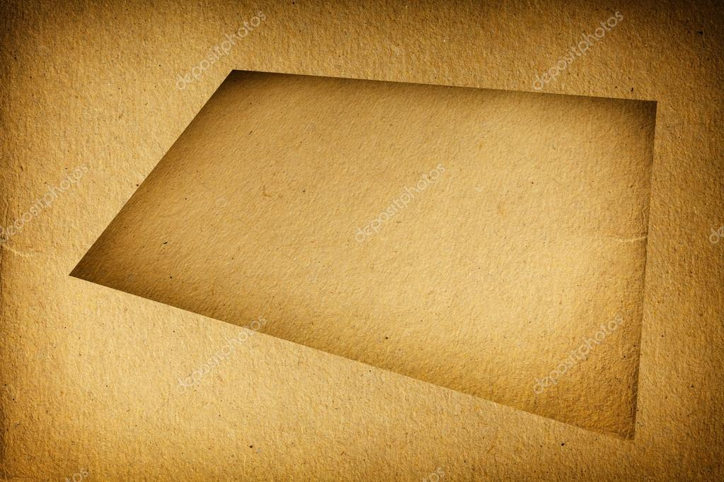 Closeup leere braune Pappe mit Rahmen Textur Hintergrund leer ...