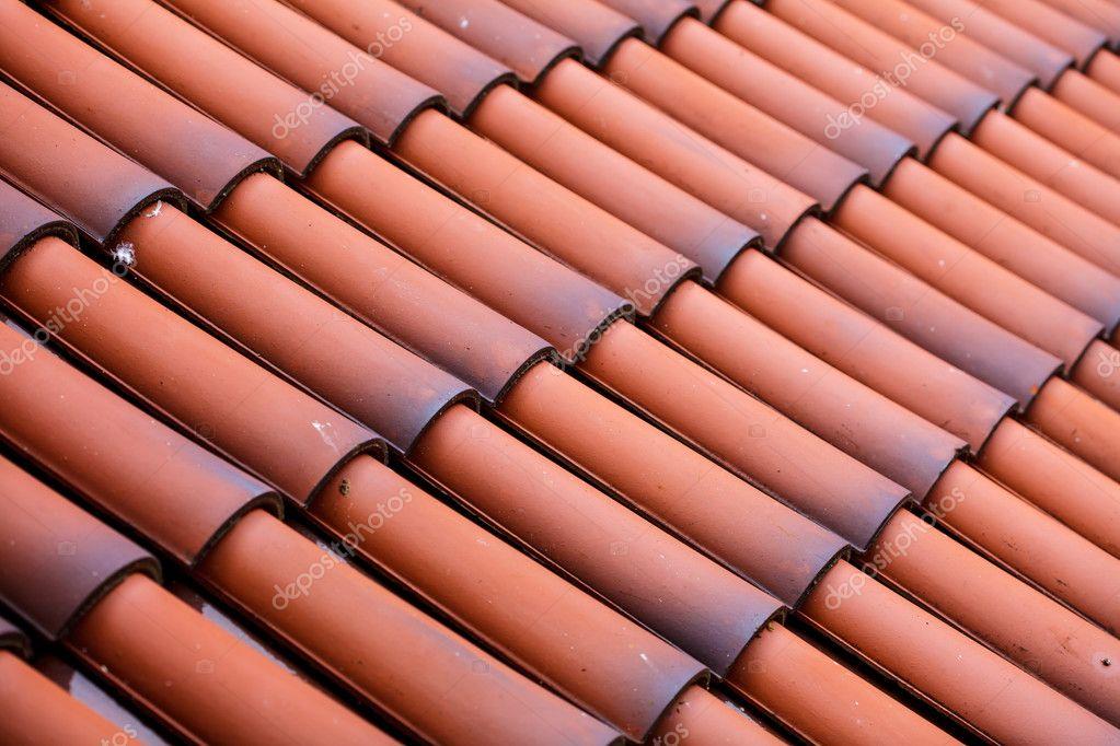 Piastrelle in rosso sfondo architettura struttura di tetto u2014 foto