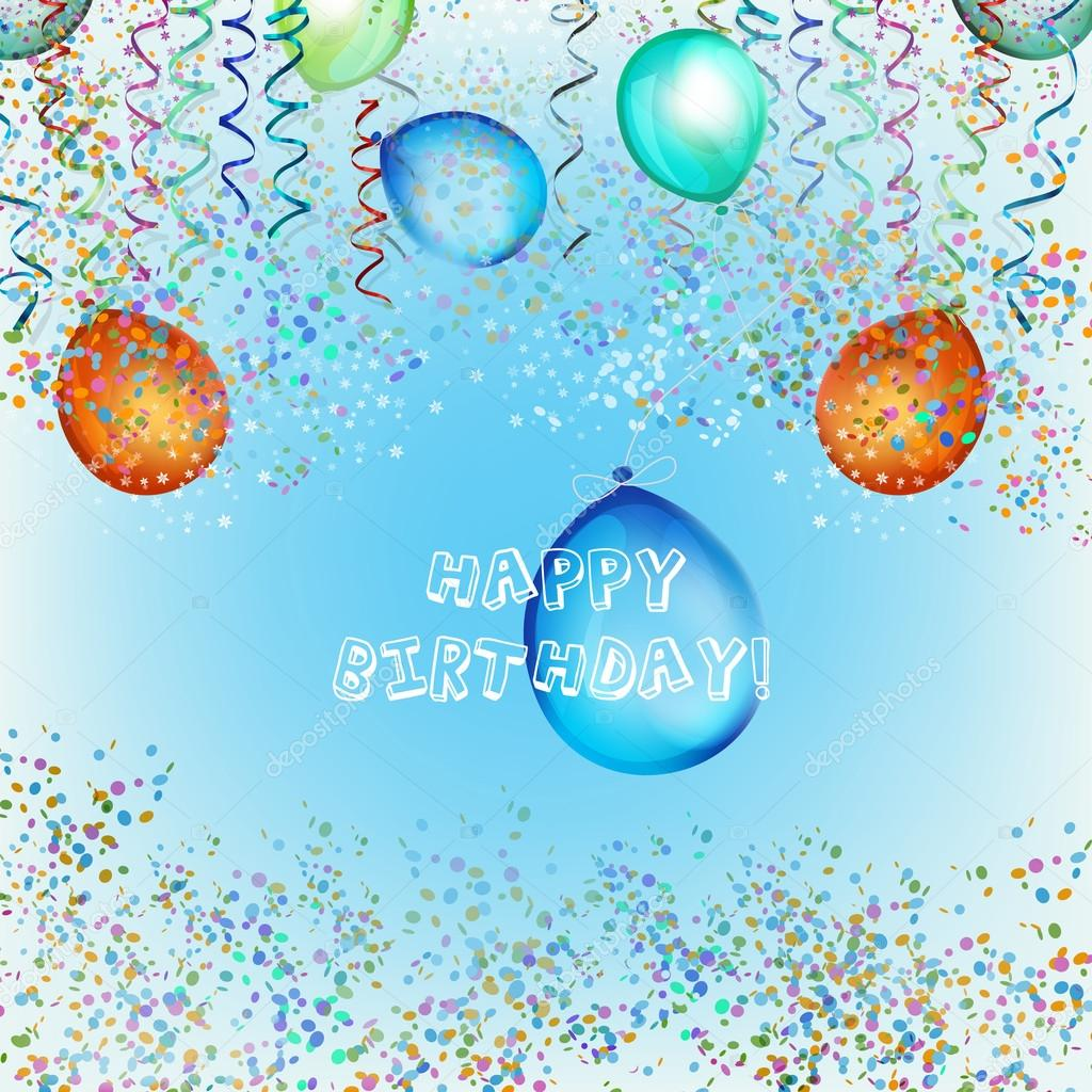 happy birthday streamers a stock vector polesnoy 21204553