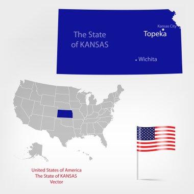 American Map Kansas