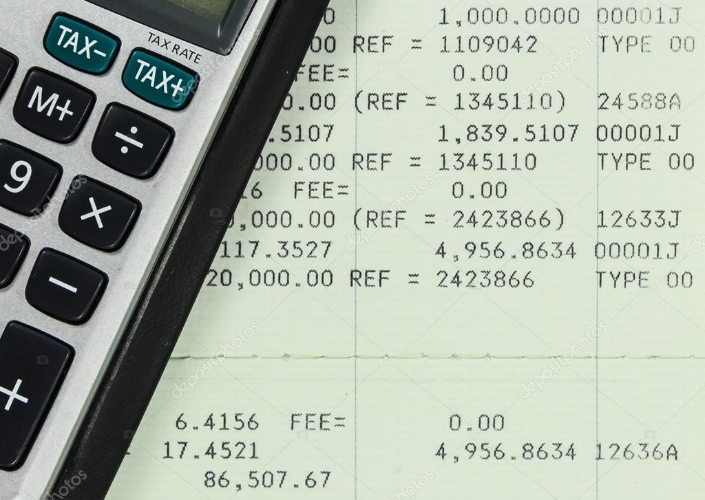 Savings Account Passbook with Calculator — Stock Photo © punpleng ...