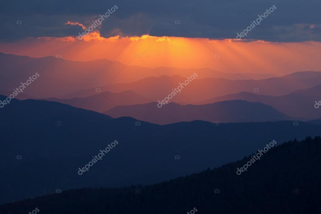 Sunbeams Great Smoky Mountains