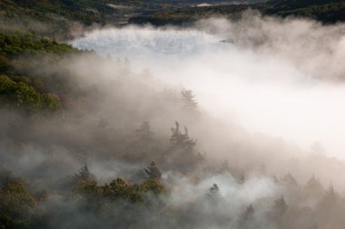 Lake of the Clouds in Fog