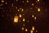Fotografie Floating asian lanterns