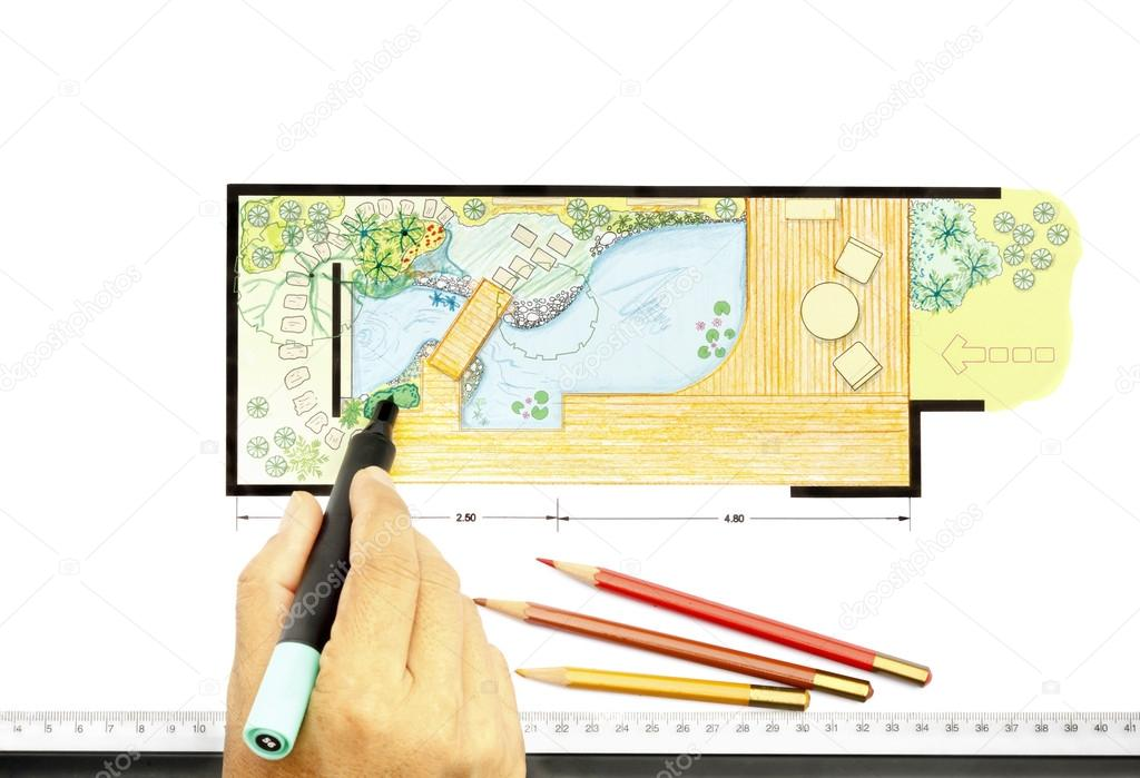 Plan de conception de jardin d 39 eau pour jardin for Conception jardin d eau