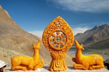 Dharma wheel stock vector