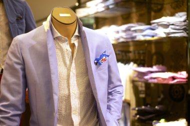 fashionable mens suit on mannequin