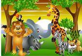 Fotografie Wild animal cartoon