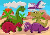 Fotografie Dinosaur cartoon