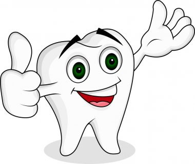 Tooth cartoon character
