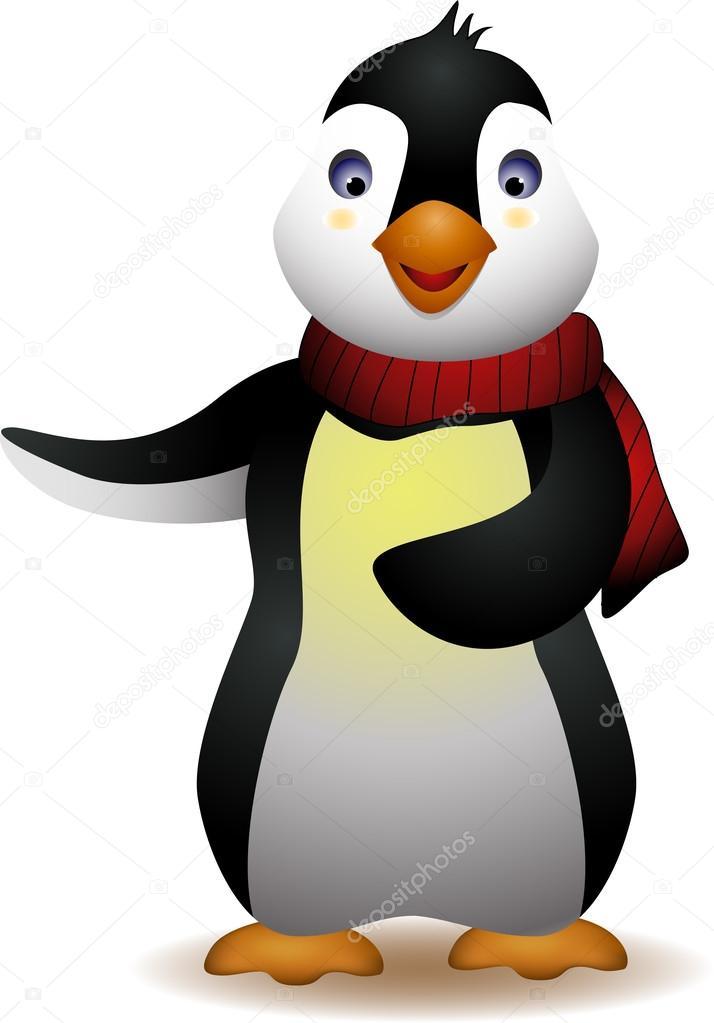 Cute penguin cartoon — Stock Vector © starlight789 #12669790