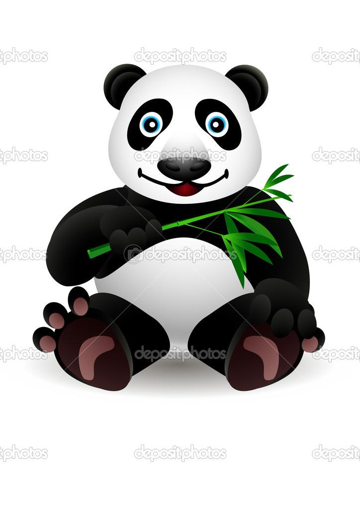Kleine Cartoon Panda Und Bambus Stockvektor C Starlight789 12763865