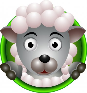 Cute sheep head cartoon stock vector