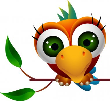 Cute macaw bird cartoon