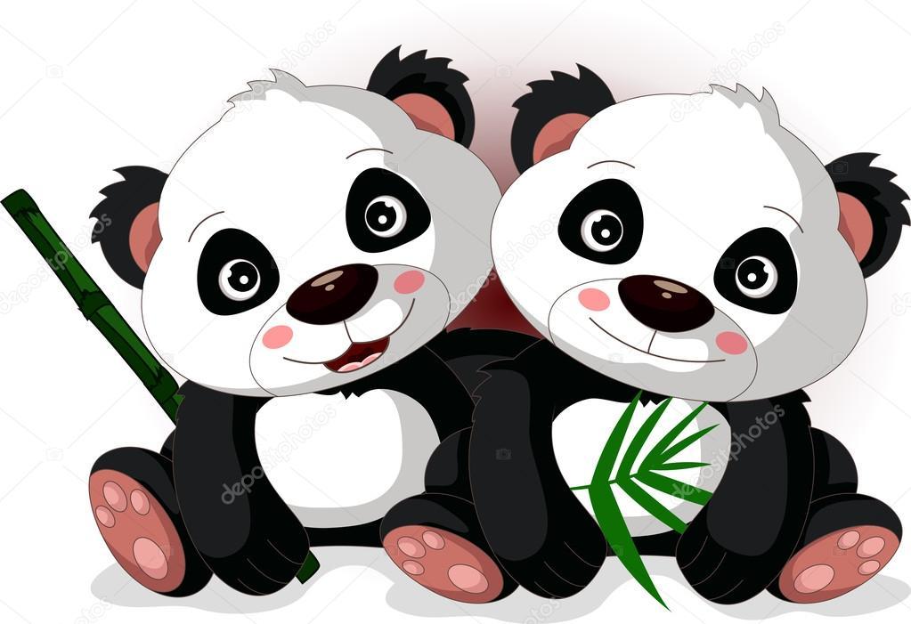Dibujos: Animados De Pandas Tiernos