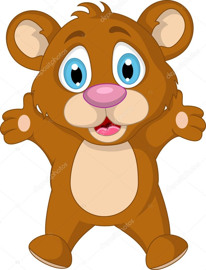 Mignon petit ours brun dessin anim expression image vectorielle starlight789 25668525 - Petit ours dessin anime ...