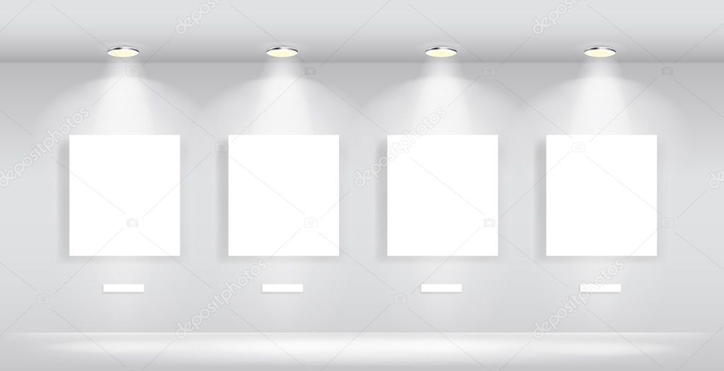 Beauty Gallery Interior with empty frames
