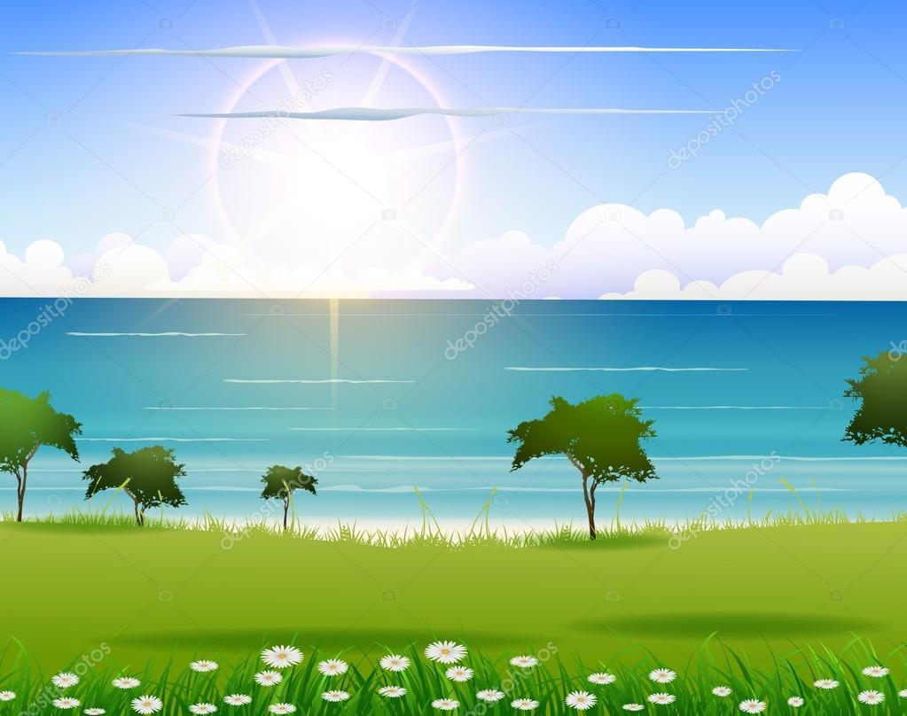 Nature beach background