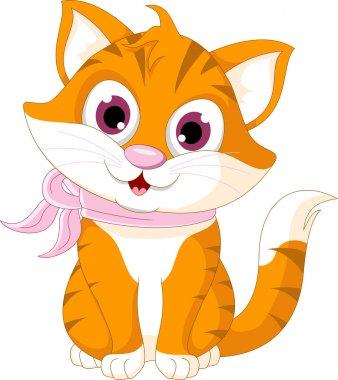 Cute cat cartoon posing