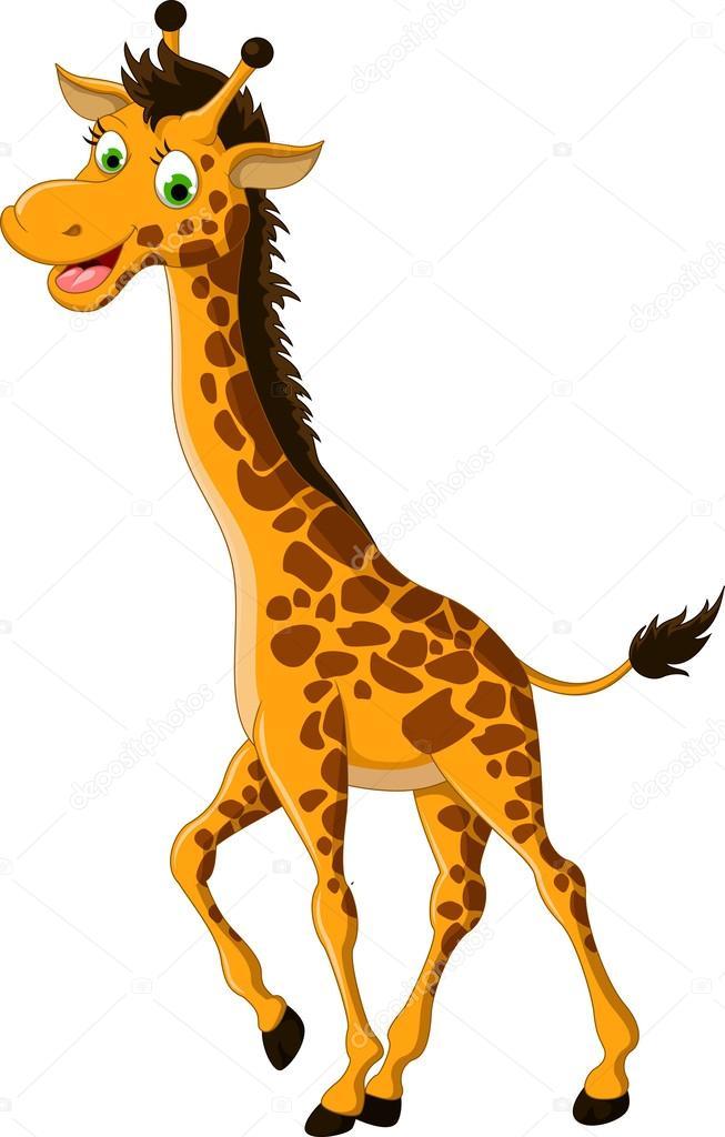 linda jirafa dibujos animados posando — Archivo Imágenes Vectoriales ...