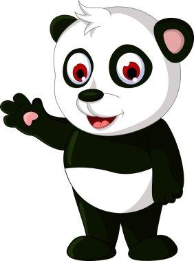 Panda cartoon posing