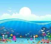 sfondo cartone animato vita di mare
