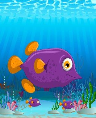 cute Blow fish cartoon