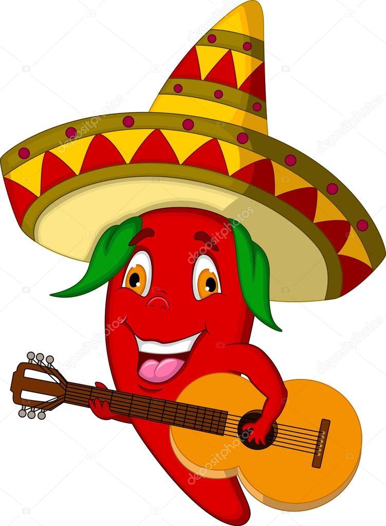 Personnage de dessin anim de piment rouge avec chapeau - Dessin piment ...