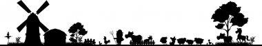 Farm silhouette for you design